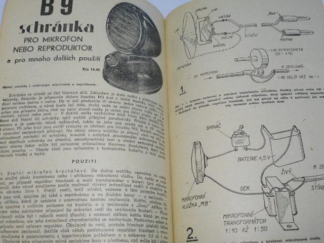 Pražský obchod potřebami pro domácnost - ceník radiotechnického a elektrotechnického zboží - 1957