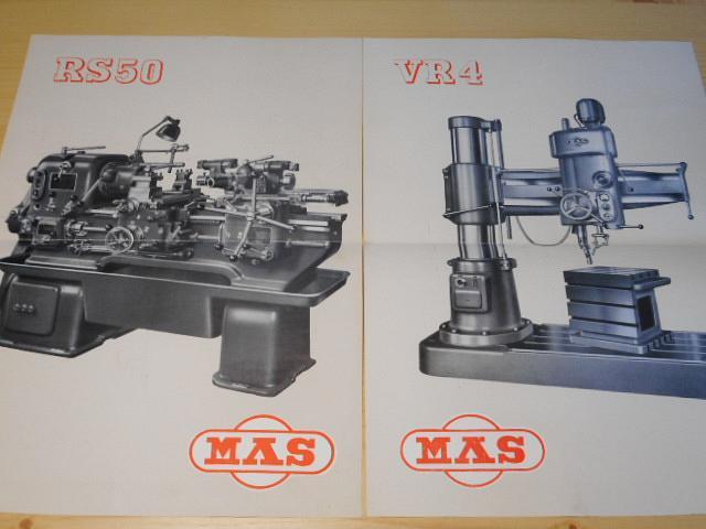 MAS - obráběcí stroje - prospekt