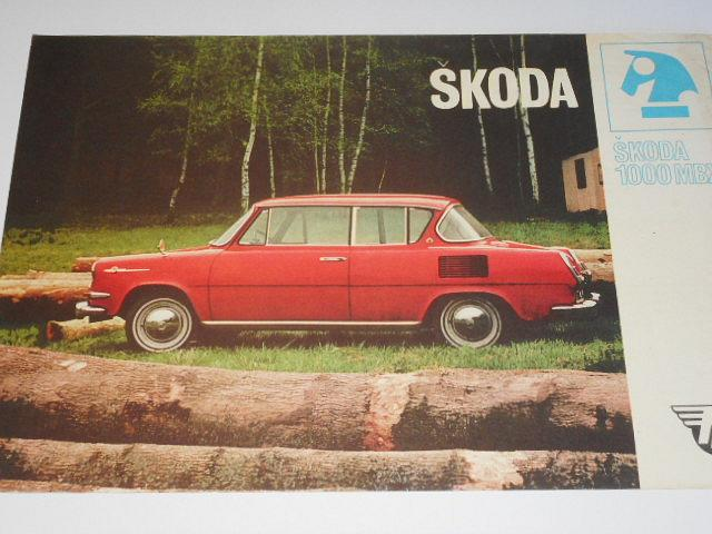 Škoda 1000 MBX - prospekt - Mototechna