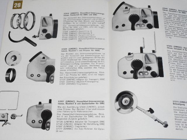 Hasselblad 500 C, SWC, 500 EL - fotoaparáty - prospekt