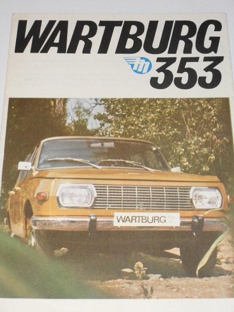 Wartburg 353 - prospekt - Mototechna