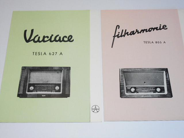 Tesla 627 A Variace, 805 A Filharmonie, 1107 A Copélia, 4208 U Narcis - prospekt