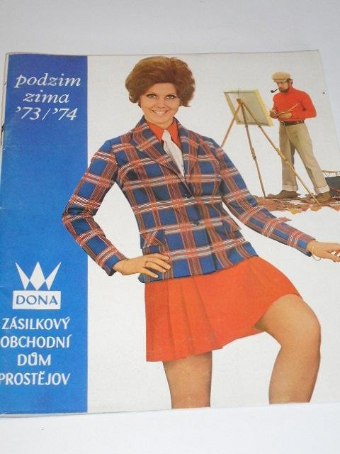 Dona - zásilkový obchodní dům Prostějov - podzim, zima - 1973 - 1974 - katalog
