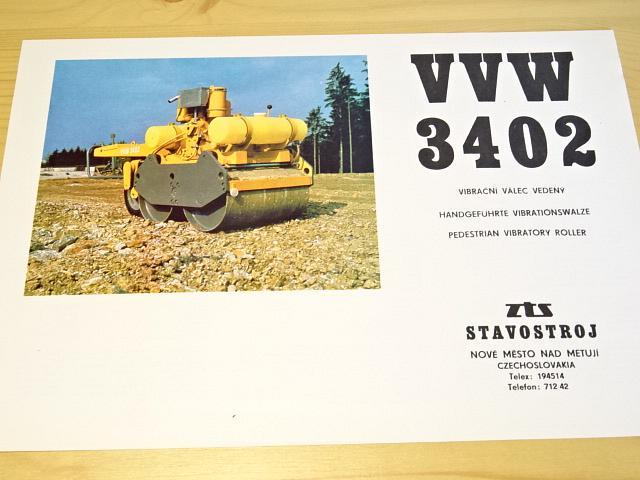 VVW 3402 - vibrační válec vedený - prospekt - ZTS Stavostroj Nové Město nad Metují