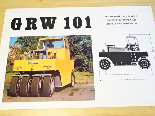 GRW 101 - pneumatikový statický válec - prospekt - ZTS Stavostroj Nové Město nad Metují