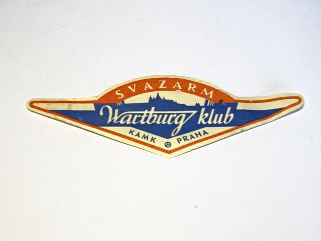 Svazarm Wartburg klub KAMK Praha - papírový znak