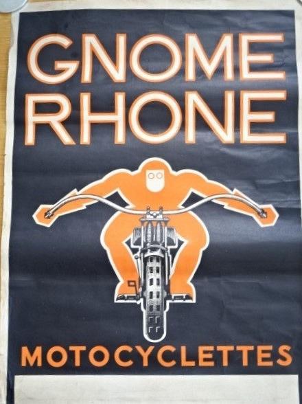 Gnome Rhone Motocyclettes - plakát