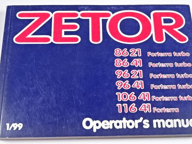 Zetor Forterra turbo 8621, 8641, 9621, 9641, 10641, 11641 Forterra - Operator's manual - 1999
