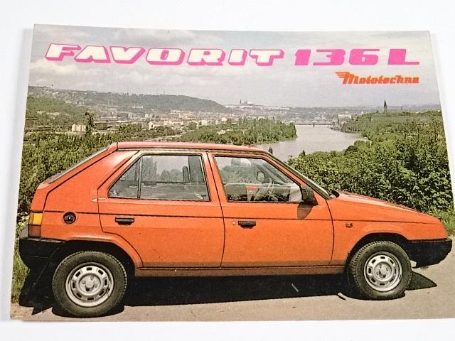 Škoda Favorit 136 L - samolepka - Mototechna