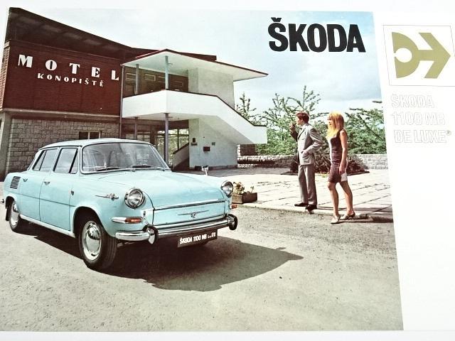 Škoda 1100 MB de luxe - Motokov - prospekt