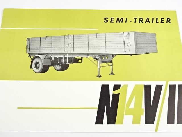N 14 V/II - semi trailer - prospekt - 1966 - Motokov