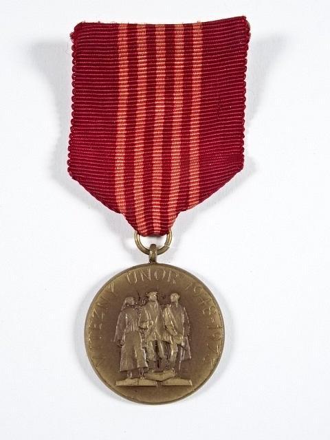 Vítězný únor 1948 - 1973 - dvacátépáté výročí vítězství pracujícího lidu - medaile