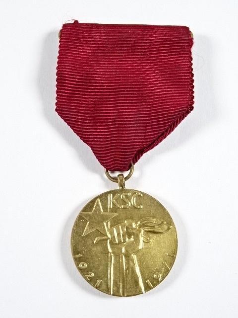KSČ 1921 - 1971 - Proletáři všech zemí, spojte se! - medaile
