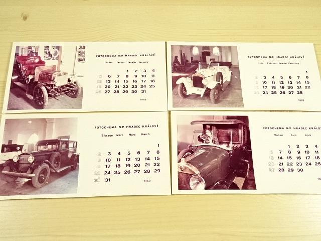 Kalendář 1969 - fotografie - Fotochema n. p. Hradec Králové - Laurin a Klement, Škoda