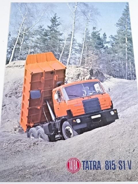 Tatra 815 S1 V 26 208 6 x 6.2 - sklápěčkový třínápravový automobil - prospekt