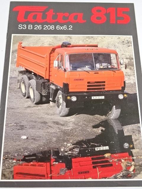 Tatra 815 S3 B 26 208 6x6.2 sklápěčkový automobil - prospekt