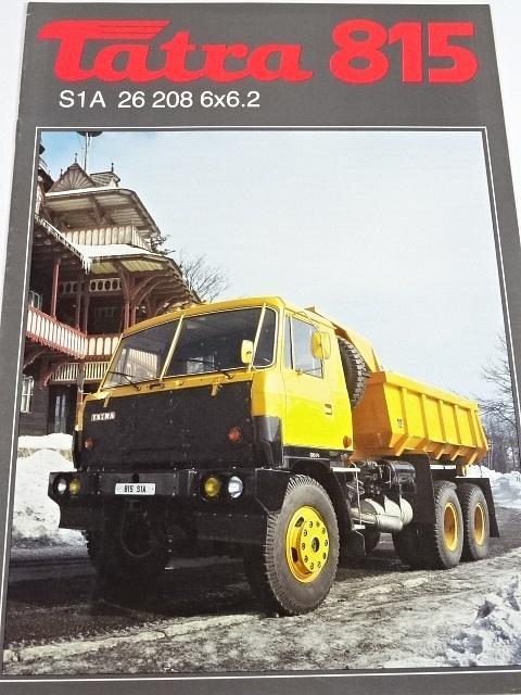 Tatra 815 S1 A 26 208 6x6.2 sklápěčkový automobil - prospekt