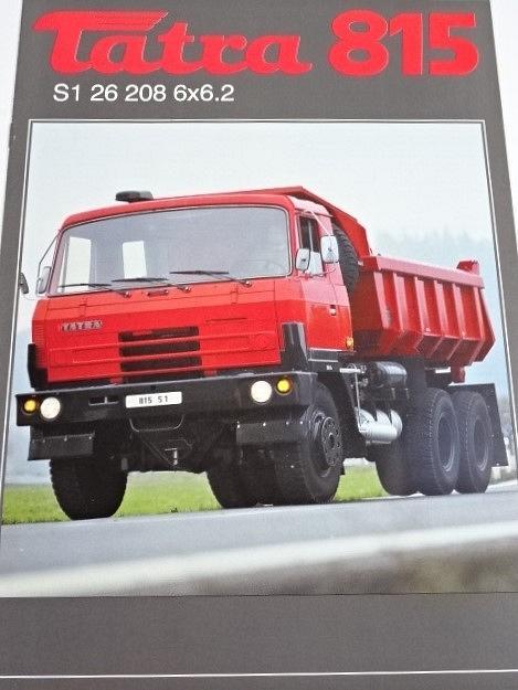 Tatra 815 S1 26 208 6x6.2 - sklápěčkový automobil - prospekt