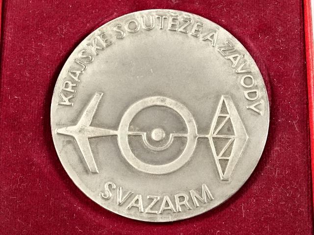 Svazarm - krajské soutěže a závody - plaketa - Svaz pro spolupráci s armádou