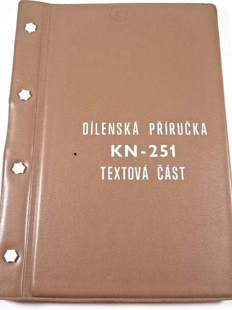 Kolový nosič KN-251 - dílenská příručka - 1980