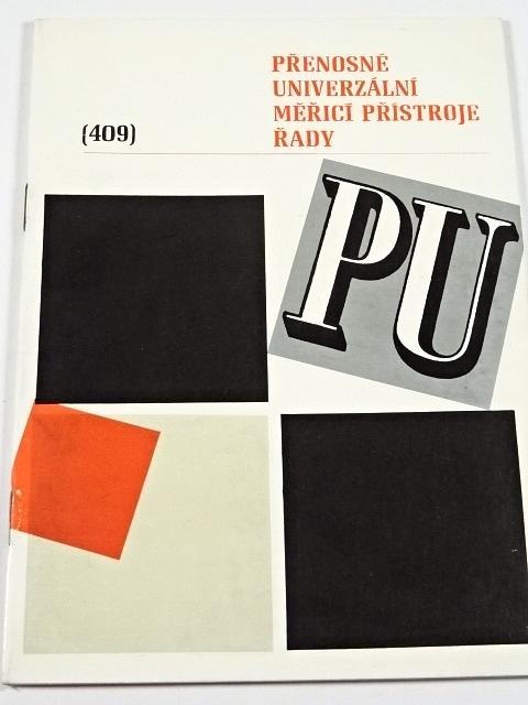 Metra Blansko - Přenosné univerzální měřicí přístroje řady PU - Technomat - katalog - 1971