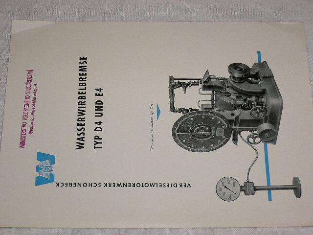 VDS - Wasserwirbelbremse typ D4 und E4 - prospekt - 1958