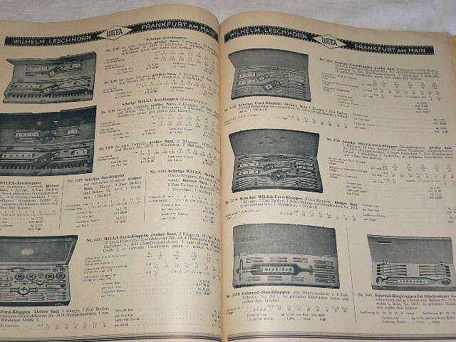 Werkzeuge für Matallbearbeitung - 1934
