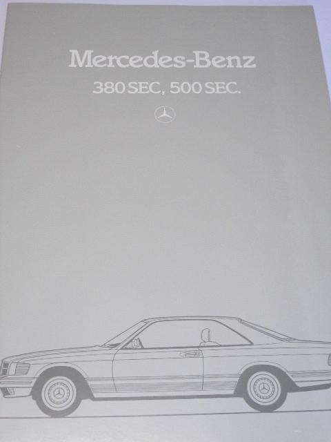 Mercedes - Benz 380 SEC, 500 SEC - prospekt - 1982
