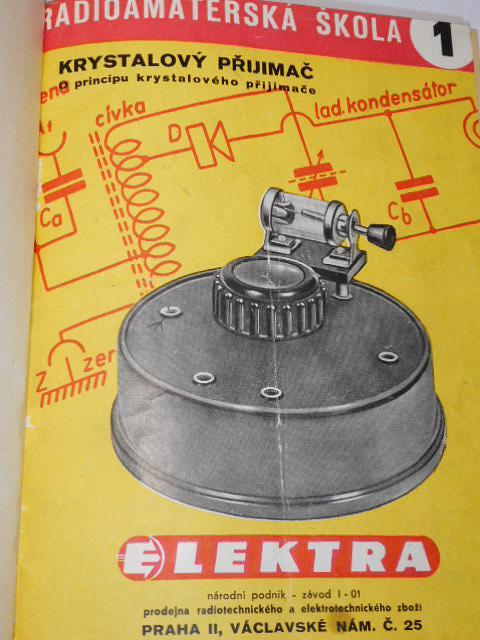 Radioamatérská škola - stavební návod a popis - 1956