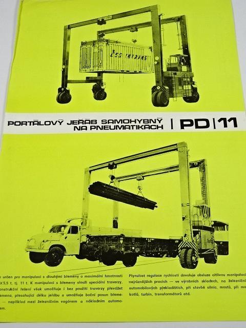 Portálový jeřáb samohybný na pneumatikách PD 11 - prospekt