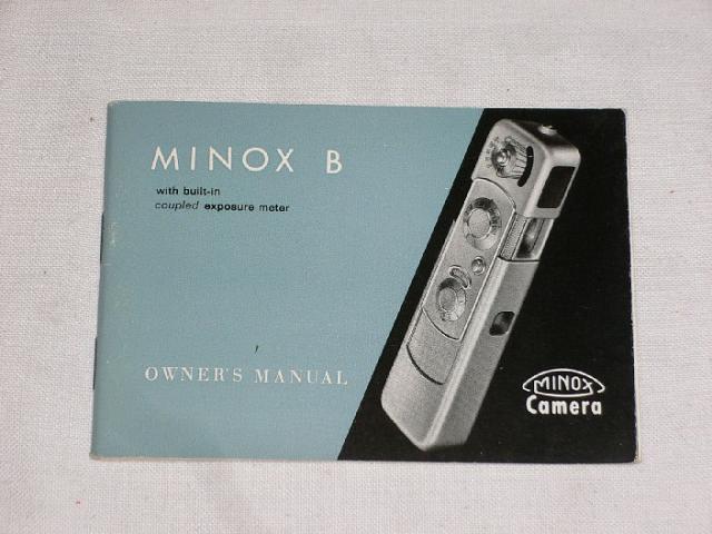 Minox B - Owner´s manual - 1968