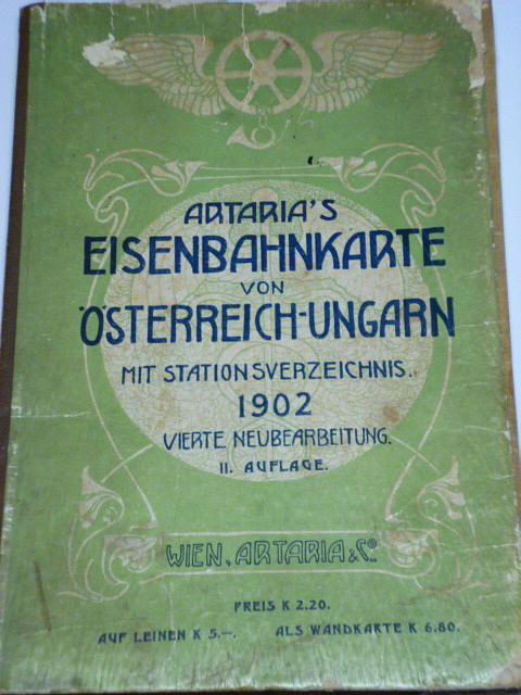 Eisenbahnkarte von Österreich - Ungarn - 1902