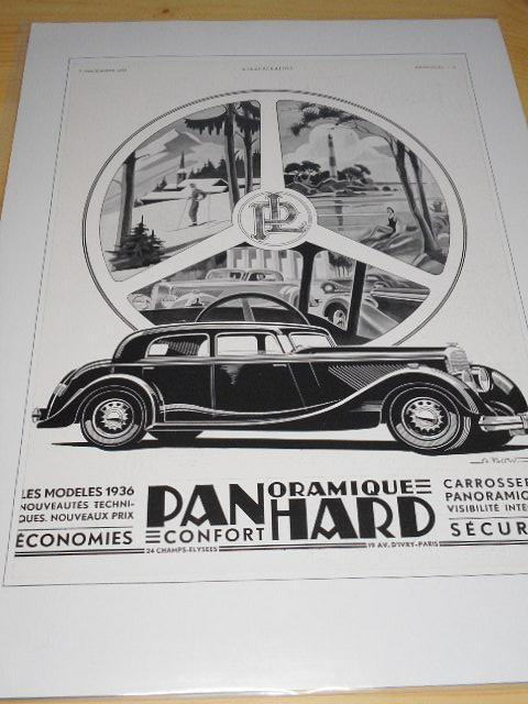 Panhard - reklama ze starého časopisu - 1935