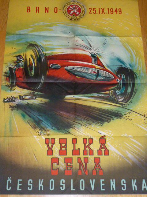 Velká cena Československa, Brno 25. IX. 1949 - plakát