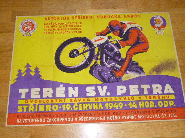 Terén sv. Petra - Stříbro 19. června 1949 - plakát