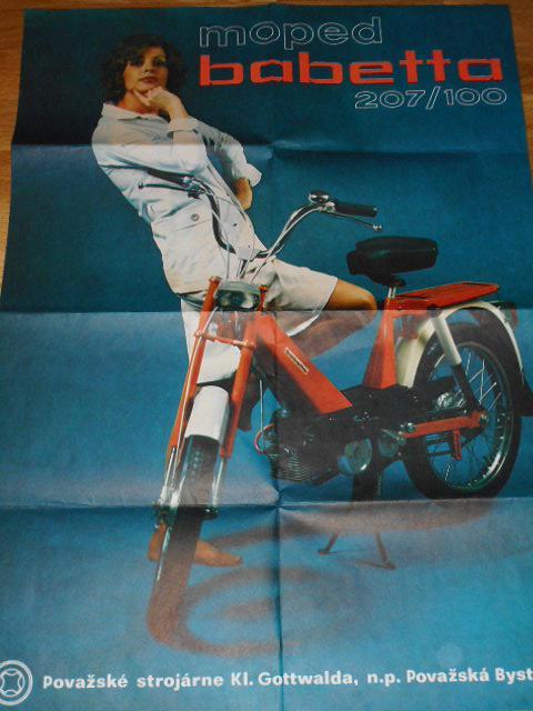 Moped Babetta 207/100 - JAWA - plakát