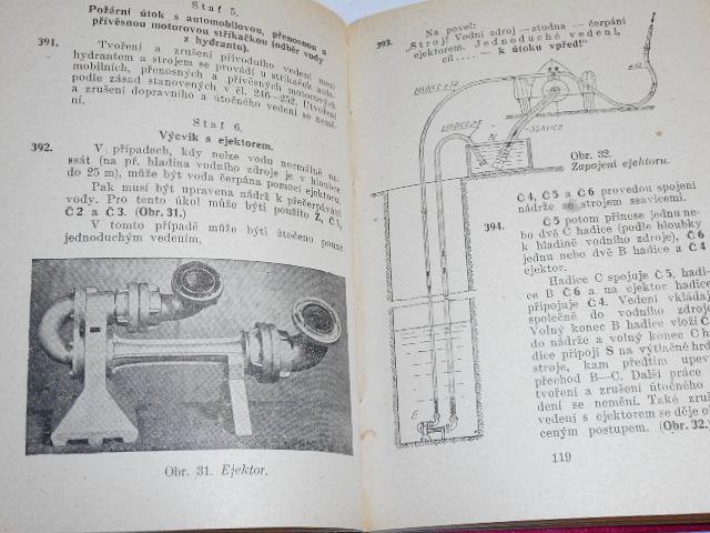 Cvičební řád hasičstva - technický  výcvik - 1949