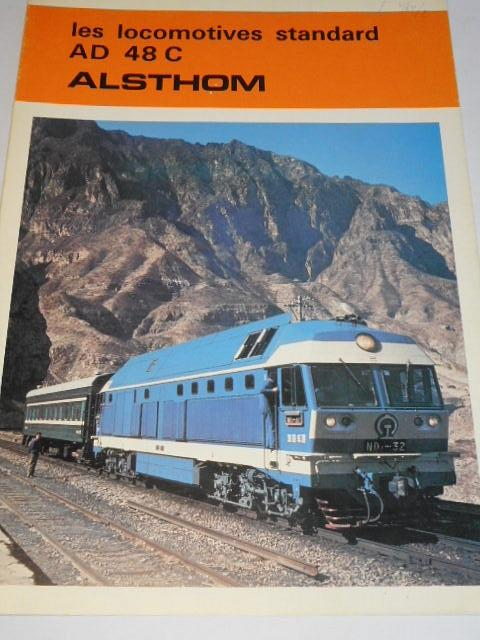Alsthom - les locomotives standard AD 48 C - prospekt - 1979