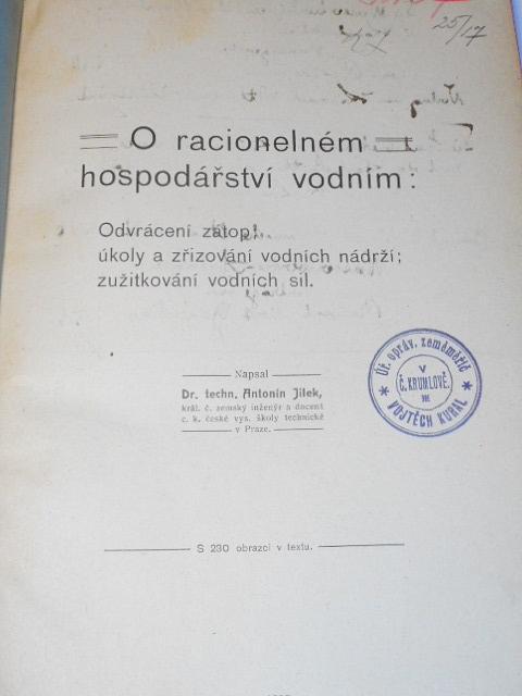 O racionelném hospodářství vodním - Antonín Jílek - 1909