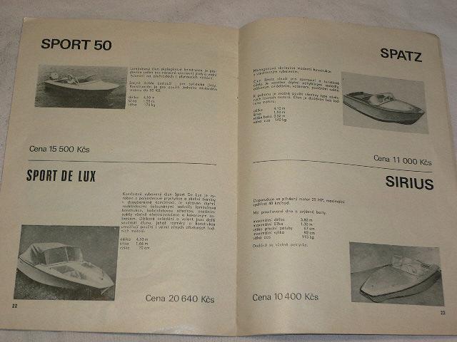 Sport - letní sportovní potřeby - katalog ´74