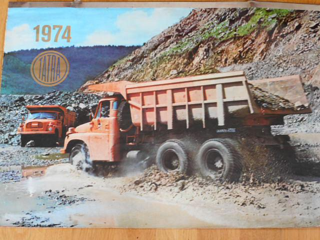 Tatra - nástěnný kalendář 1974 - Tatra 148, 813, 613