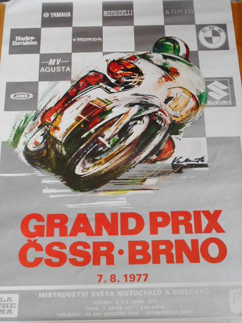Grand Prix ČSSR Brno - 7. 8. 1977 - plakát