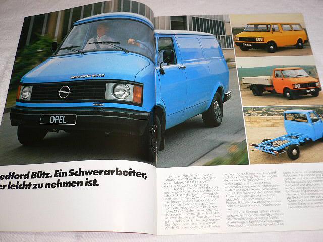 Bedford Blitz (Opel) Transporter - prospekt