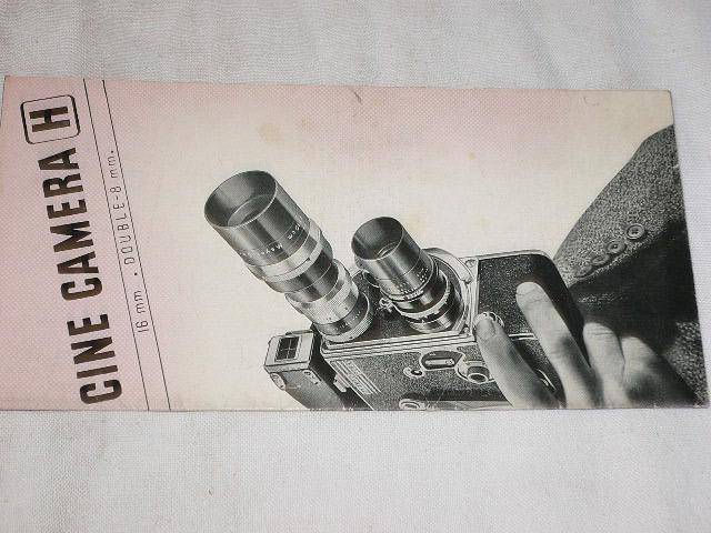 Paillard Bolex - Cine Camera - prospekt
