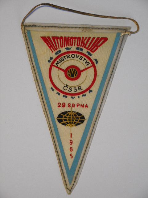 Automotoklub Kovona  - Mistrobství ČSSR Karviná 29. srpna 1965 - vlaječka