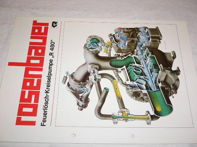 """Rosenbauer - Feuerlösch - Kreiselpumpe """"R 480"""" - prospekt"""