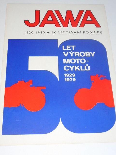 JAWA 50 let výroby motocyklů - 1920-1980 - prospekt