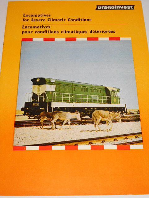ČKD - Locomotives for Severe Climatic Conditions - prospekt - 1984 - Pragoinvest