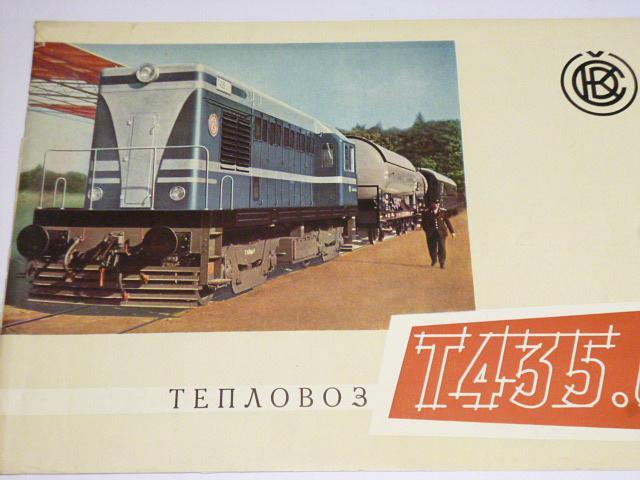 ČKD - lokomotiva T 435.0 - prospekt - 1958