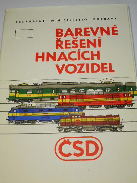 Barevné řešení hnacích vozidel ČSD - Federální ministerstvo dopravy - 1988
